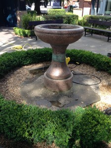 Water Fountain Feature, Harpenden town Hertfordshire