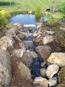 Custom Built Waterfall feature, Harpenden Hertfordshire