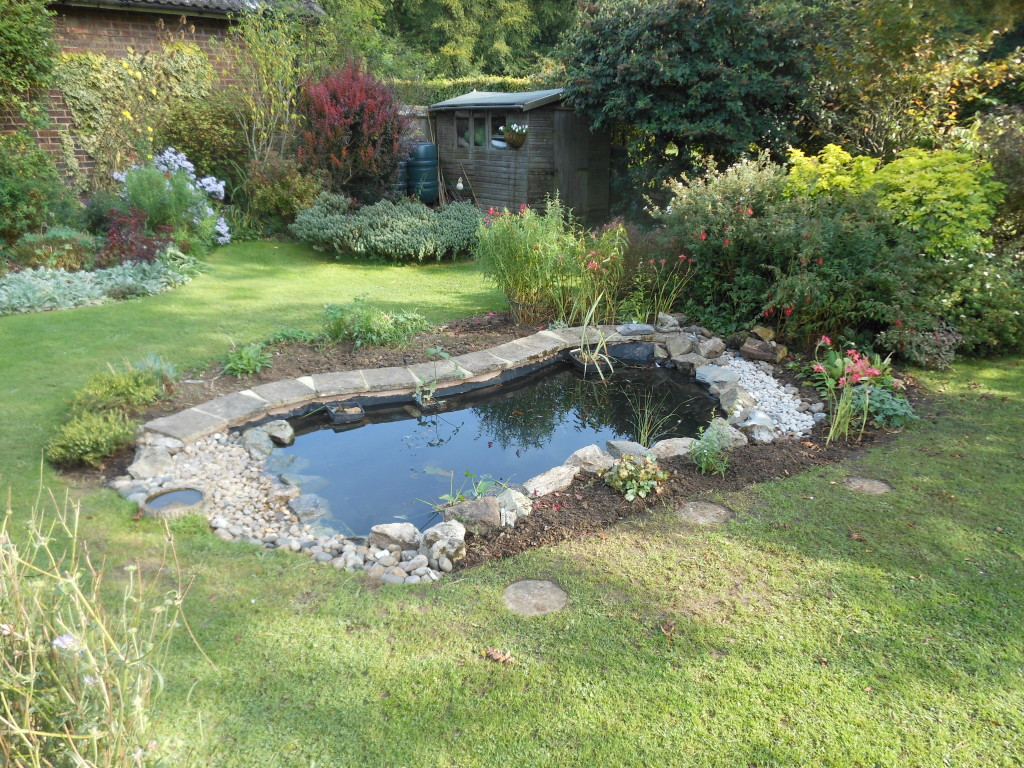Pond Refurbishment Welywn Garden City Hertfordshire